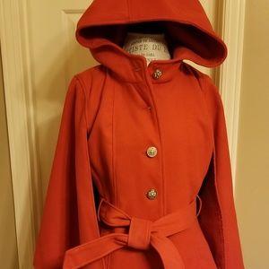 Jessica Simpson cape dress peacoat with hood